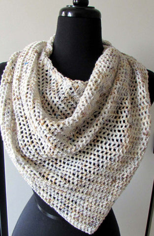 offset mesh shawl crochet pattern