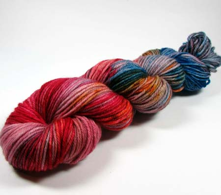 Rainbow Fade variegated colorway by Dye is Cast Yarns