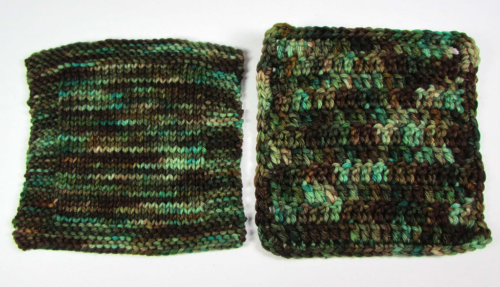 Yarn Swatches for Variegated Yarns | Dye is Cast Yarns