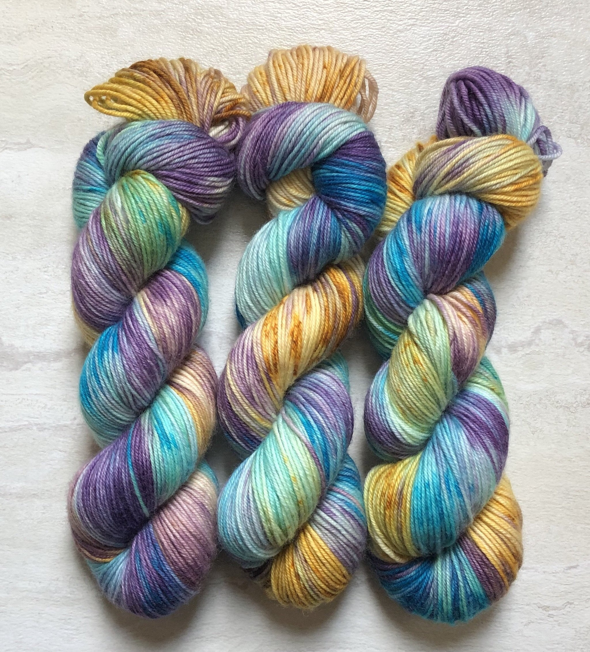 A Strange Day - Squish Like Grape DK Yarn Dye is Cast Yarns