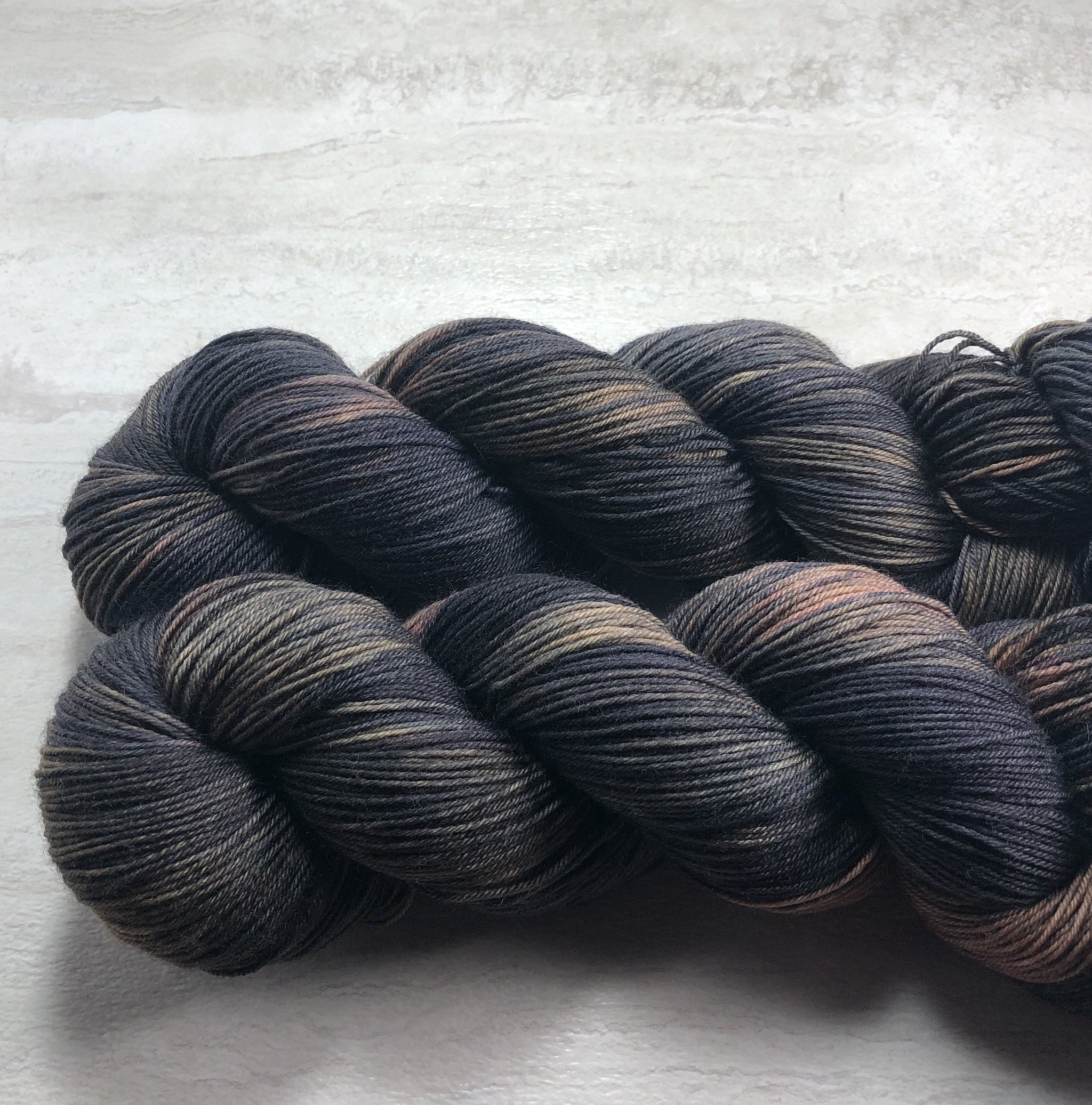 Black Forest - Squish Wish Sock Yarn Dye is Cast Yarns