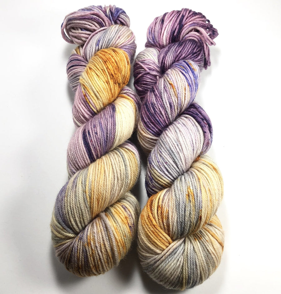 Harvest Moon - Squish Like Grape DK Yarn Dye is Cast Yarns Hand Dyed Yarn