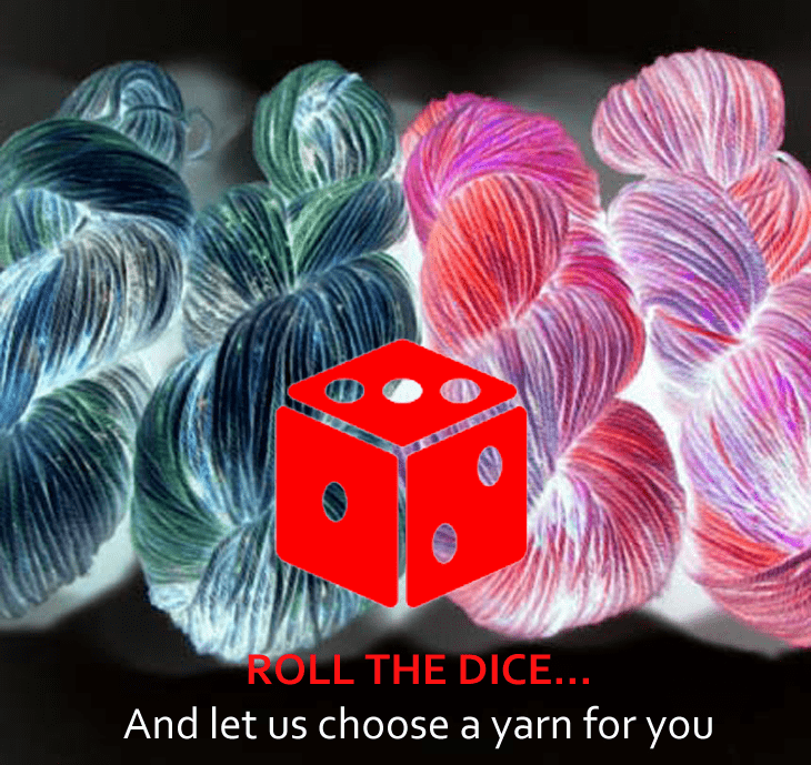 Mystery Yarn Skein - Roll the Dice - Let us choose a hand dyed yarn for you Dye is Cast Yarns