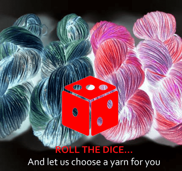 Mystery Yarn Skein - Roll the Dice - Let us choose a yarn for you Dye is Cast Yarns