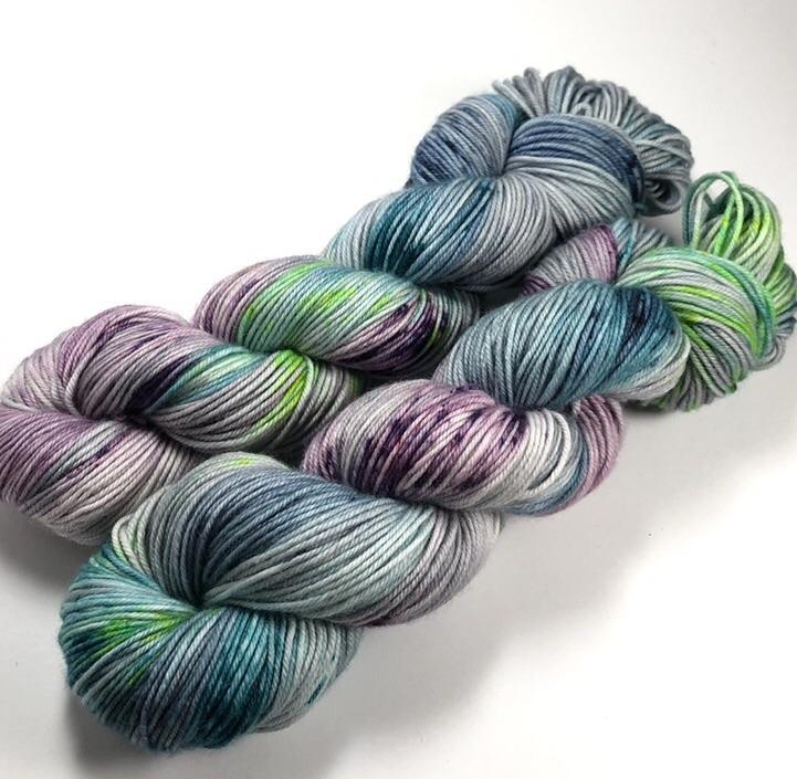 Oak Island - Squish Like Grape DK Yarn Dye is Cast Yarns Hand Dyed Yarn