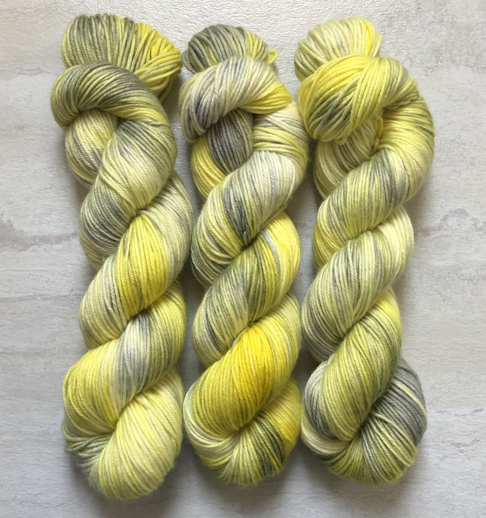 Partly Sunny - Squish Like Grape DK Yarn Dye is Cast Yarns