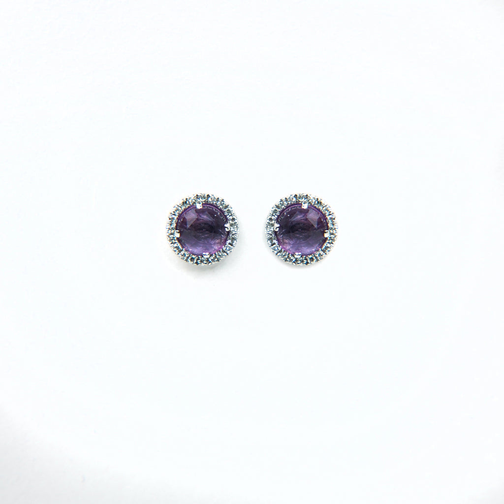 Gemstone Pave Diamond Posts