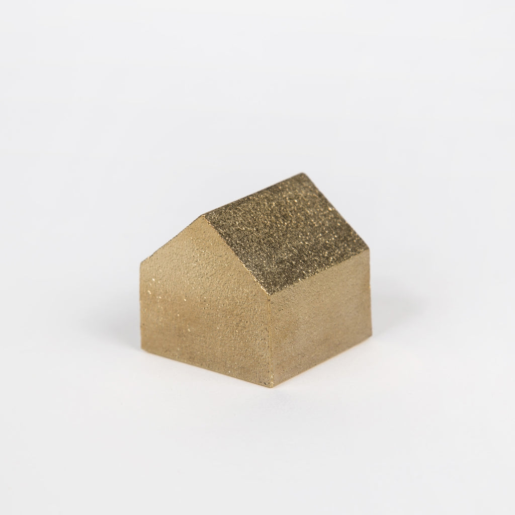 Solid Brass House Paperweight