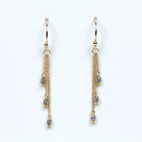 Carla Caruso Grey Diamond Tassel Earrings