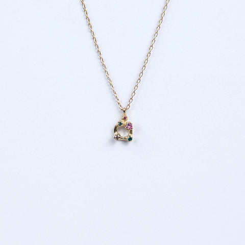 N + A Jewelry: Five Stone Necklace with Pink Sapphire