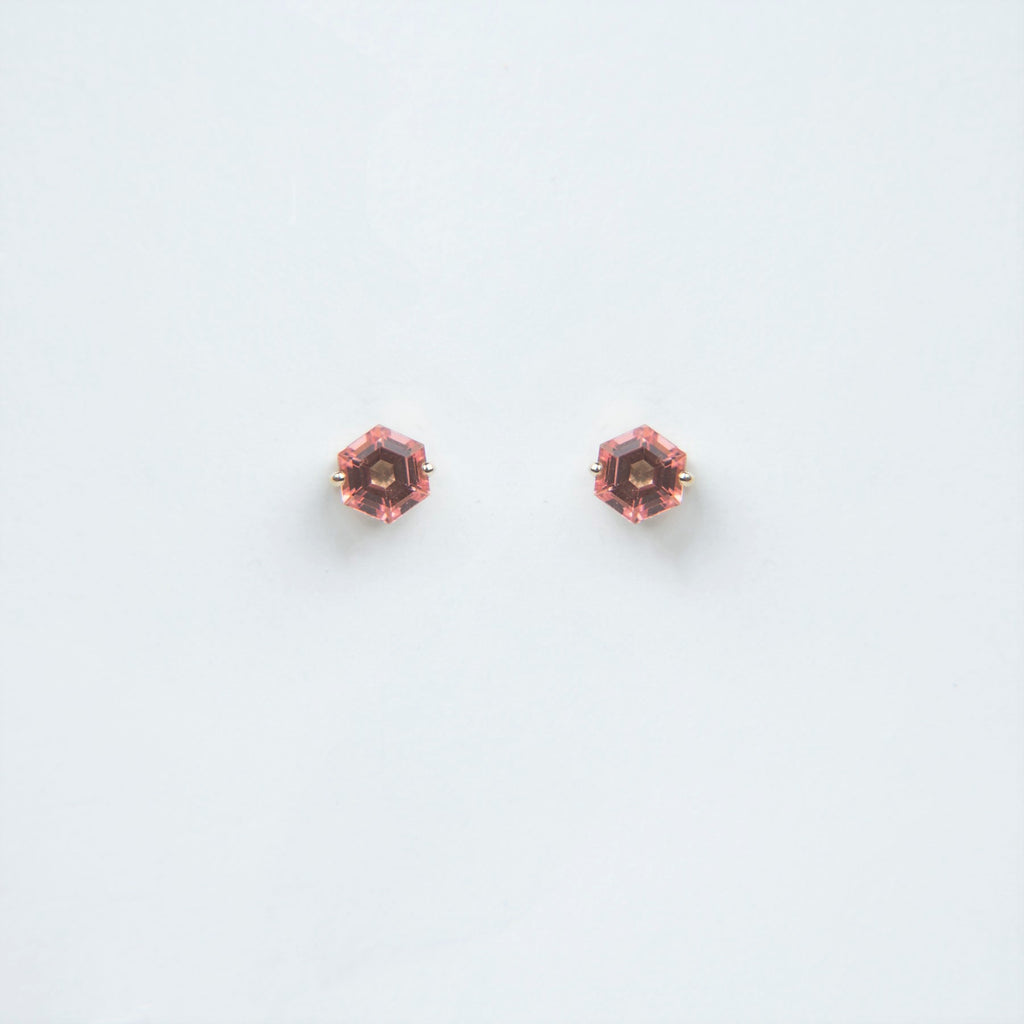 Suzanne Kalan 14K Gold Bloom Hexagon Post Earrings