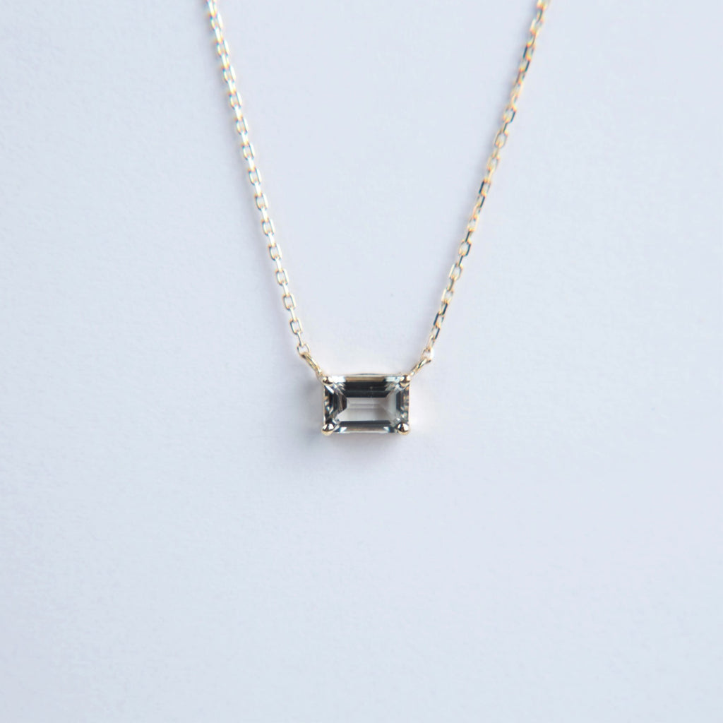 Suzanne Kalan 14K Gold Emerald Cut Necklace