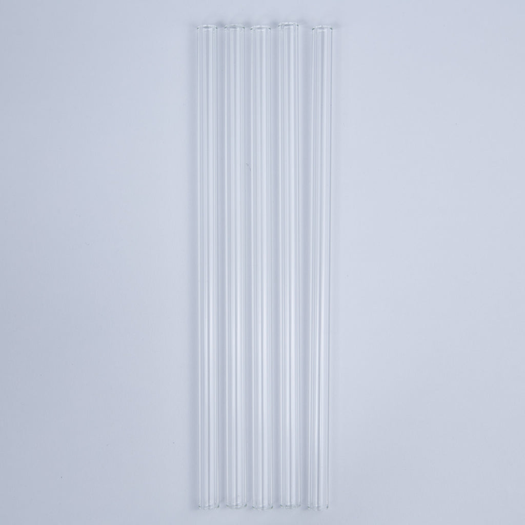 Glass Straws Set of Three