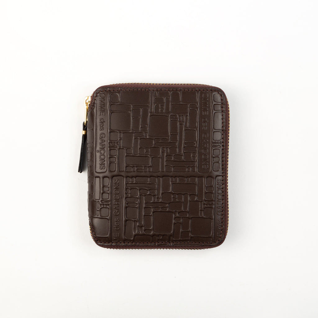 Comme Des Garcons Wallets: Logotype Brown