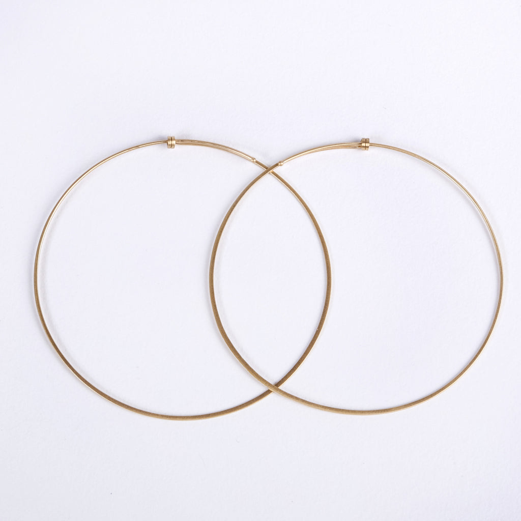 Carla Caruso Large Dainty Hoop Earrings
