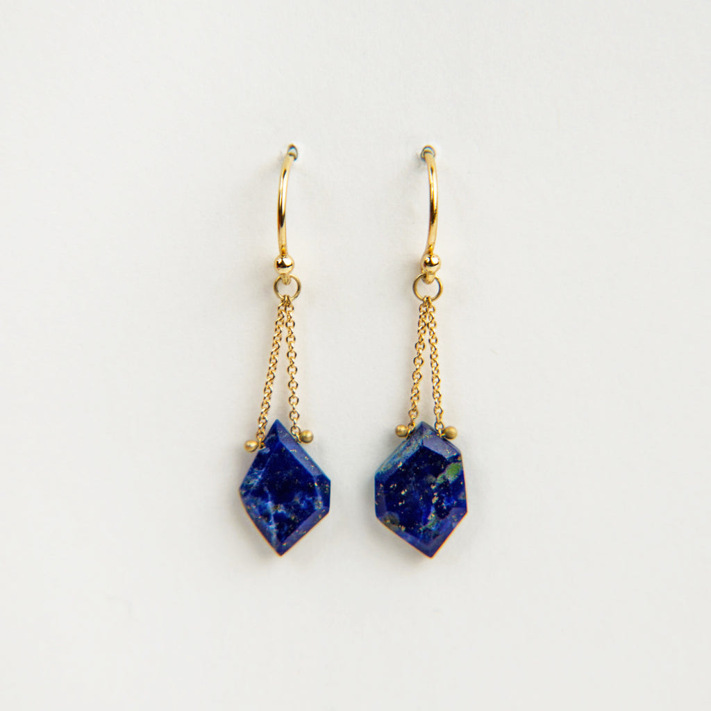Carla Caruso Lapis Lazuli Fragment Drop Earrings