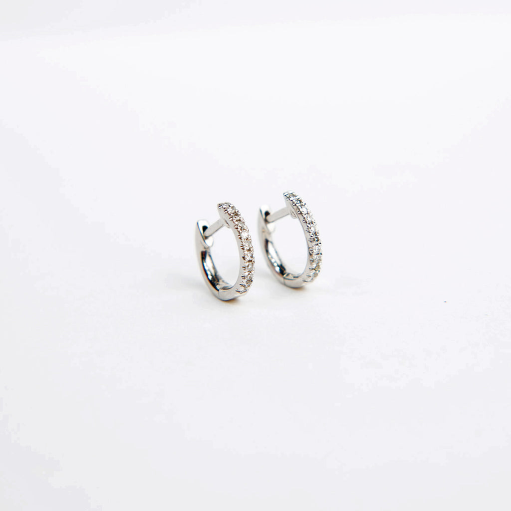 Liven Diamond Huggie Hoops