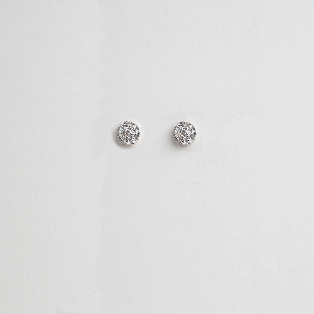 Liven Pavé Disc Earring Collection
