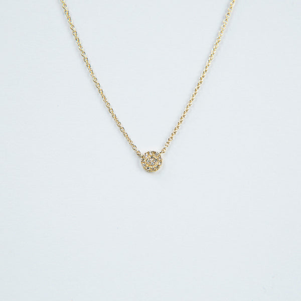 Liven Pavé Disc Necklaces