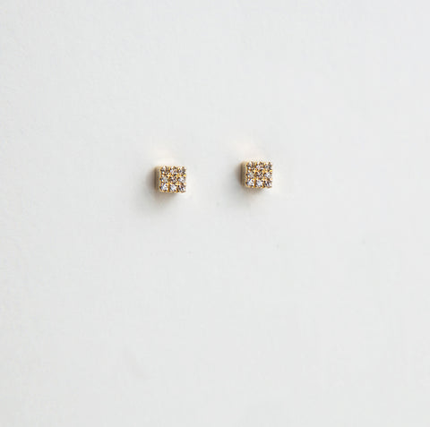 Liven Pave Cube Earrings
