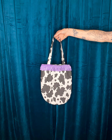 Cow Fringe Tote