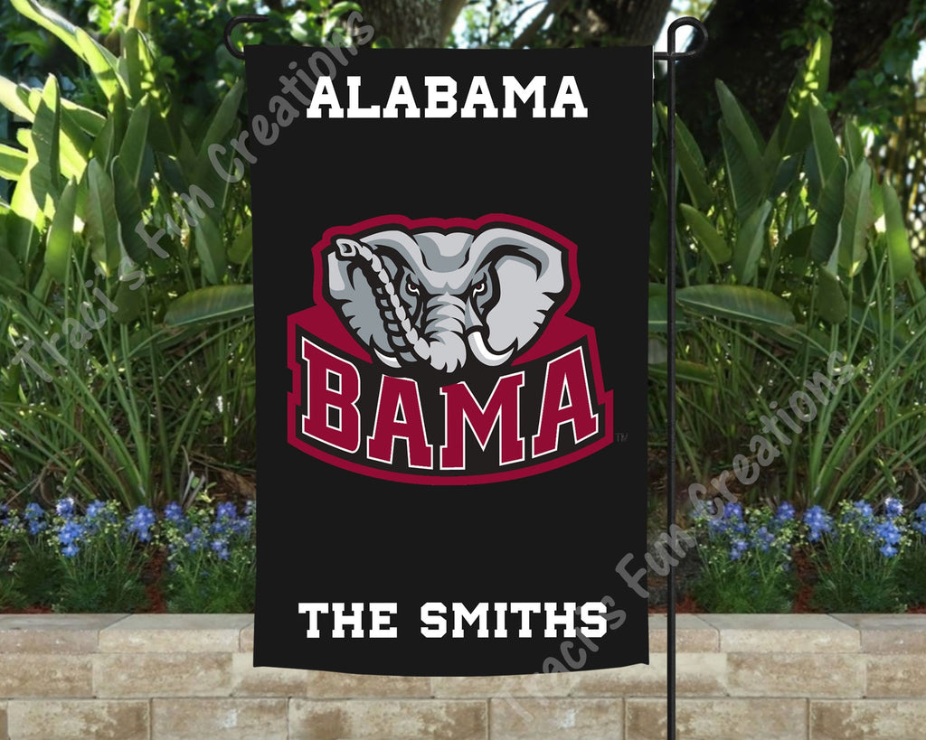 University of Alabama Roll Tide Personalized Garden Flag