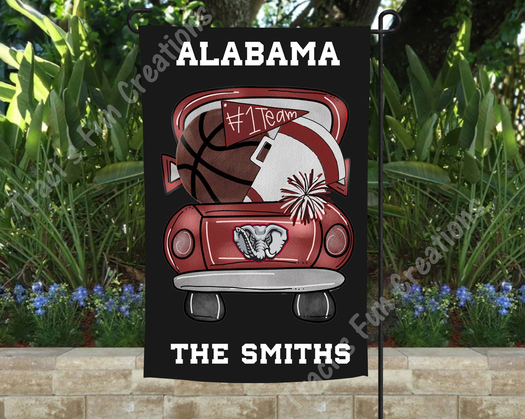 University of Alabama Roll Tide Basketball Personalized Garden Flag