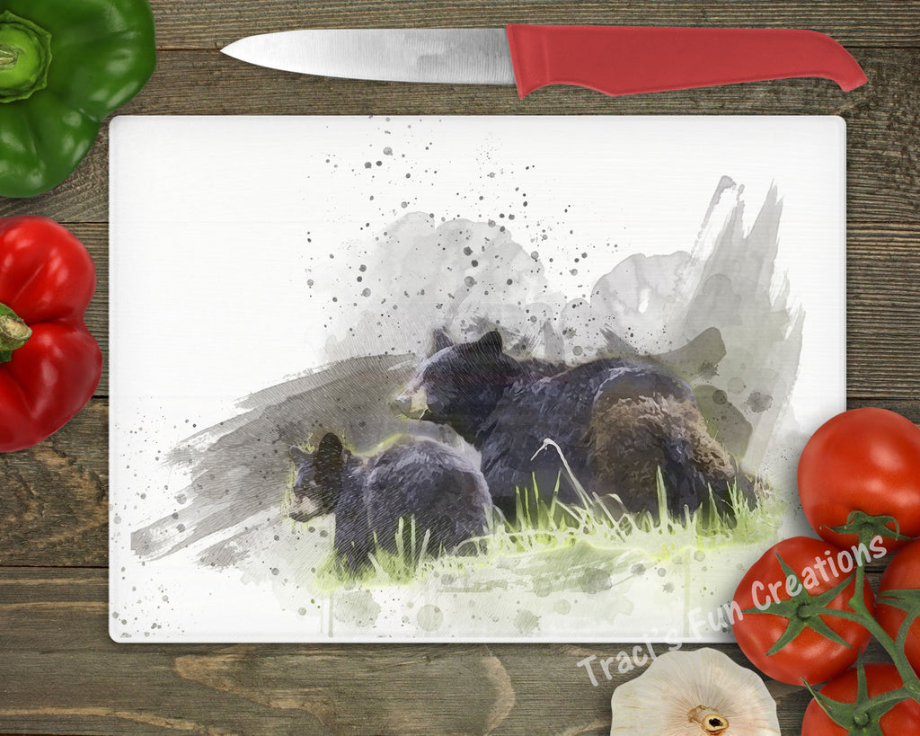 Bear Family Personalized Cutting Board