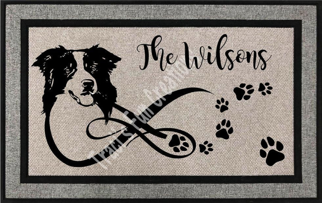 Border Collie Door Mat
