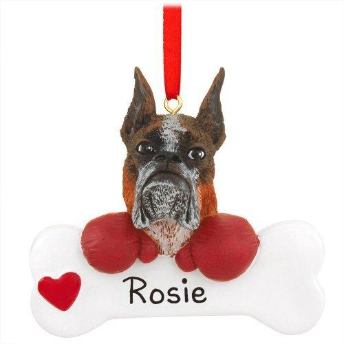Boxer Christmas Ornament