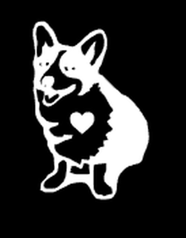 Corgi Car Decals