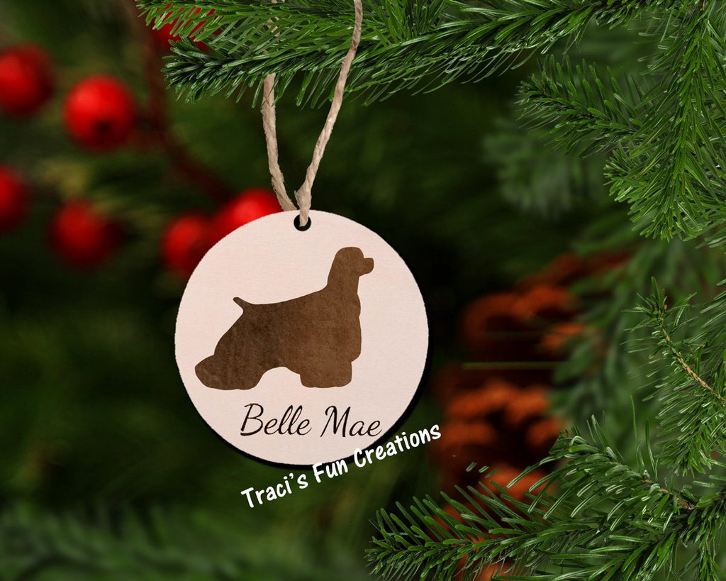 Cocker Spaniel Christmas Ornament