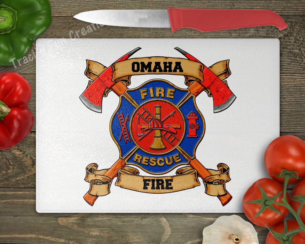 Personalized Fire Maltese Personalized Cutting Board