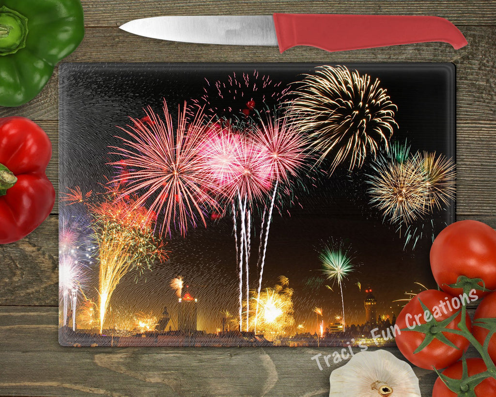Fireworks Personalized Cutting Board