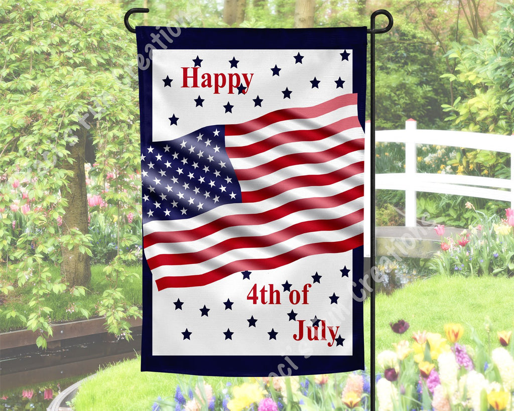 Happy 4th of July Garden Flag
