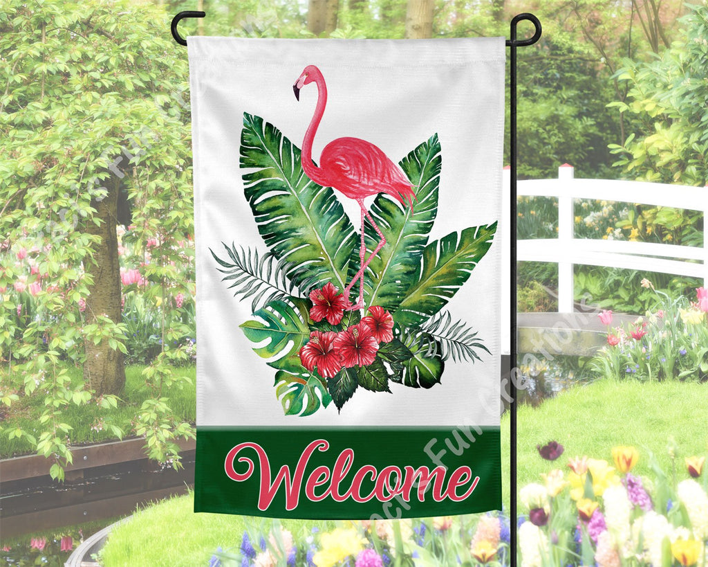 Flamingo Garden Flag