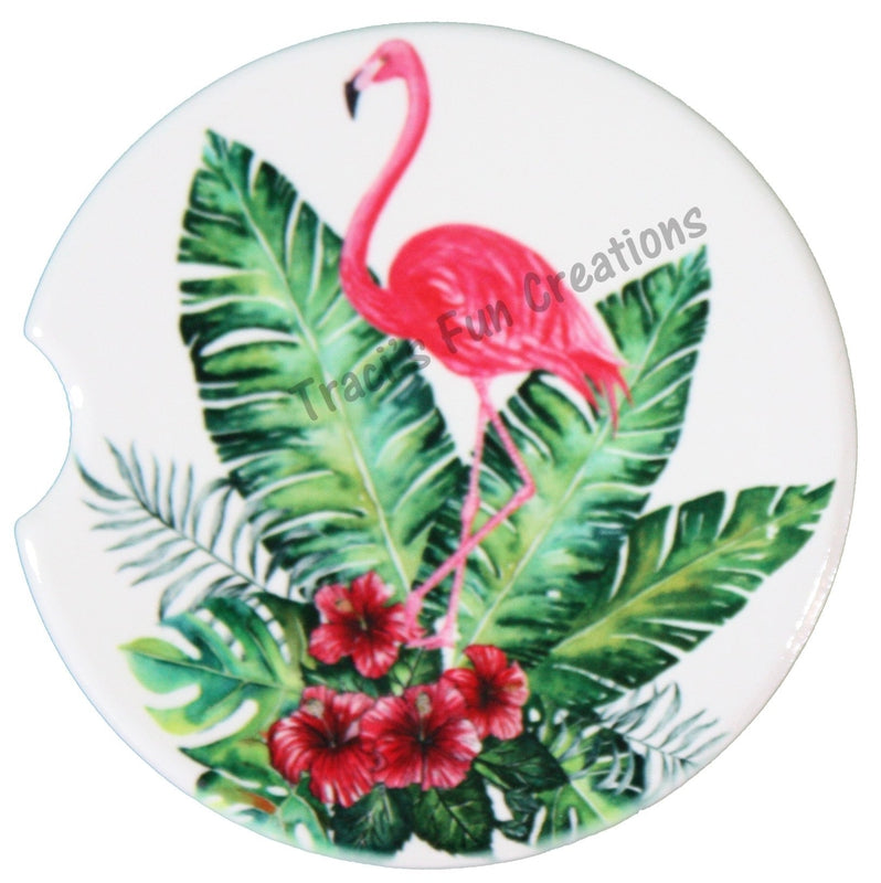 Flamingo Sandstone Car Coasters