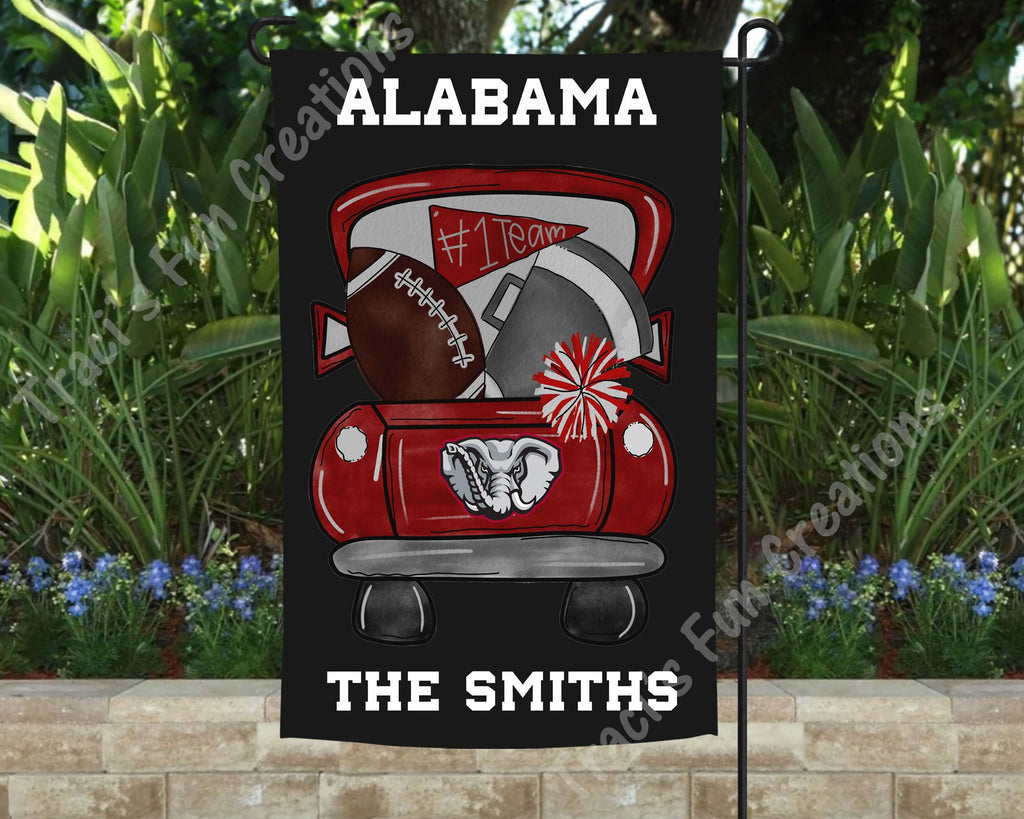 University of Alabama Roll Tide Football Personalized Garden Flag