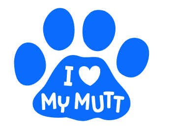 I Love My Mutt Car Decals