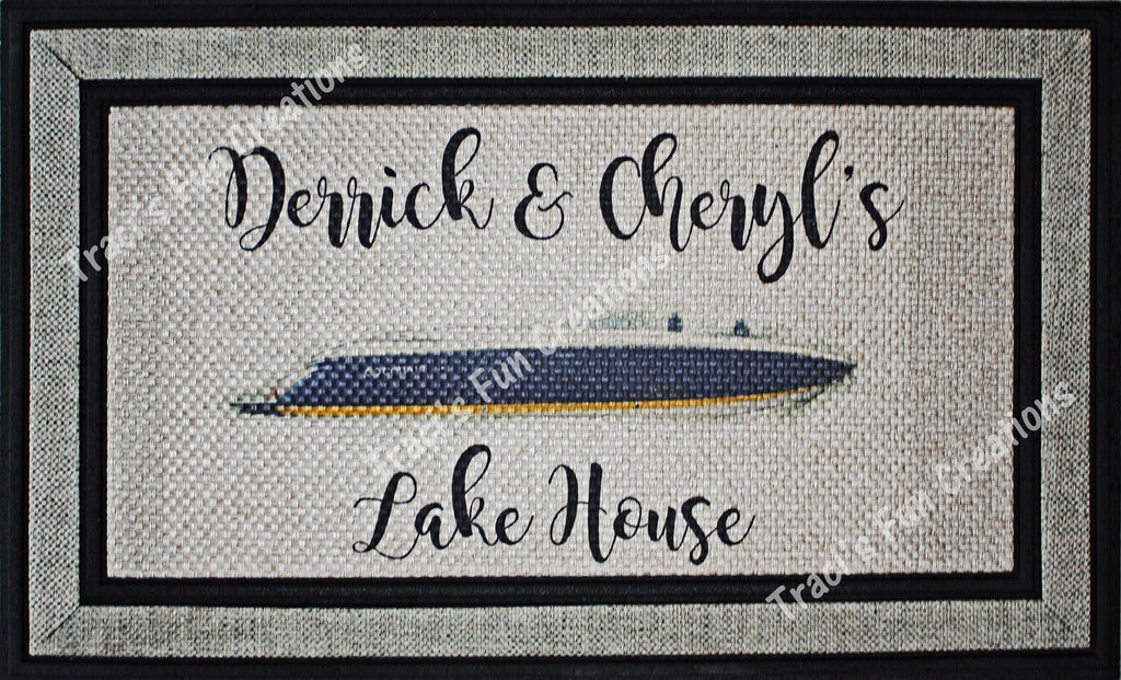 Personalized Lake House Door Mat