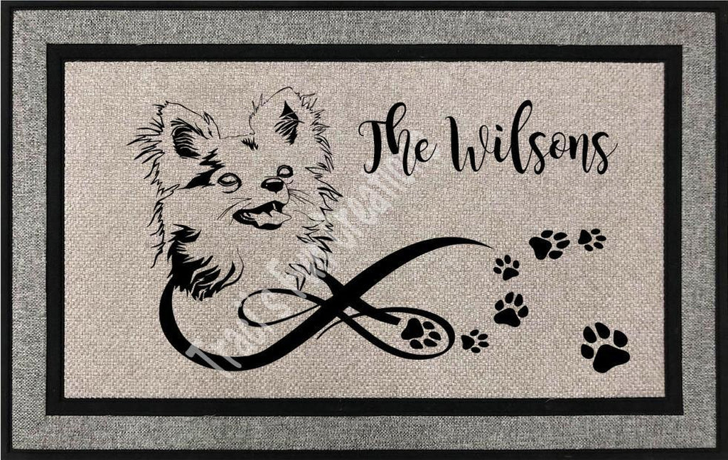Chihuahua (Long Hair) Door Mat