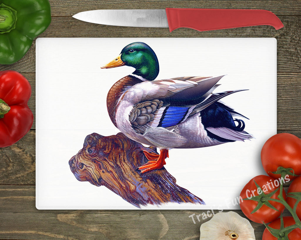 Mallard Ducks Personalized Cutting Board