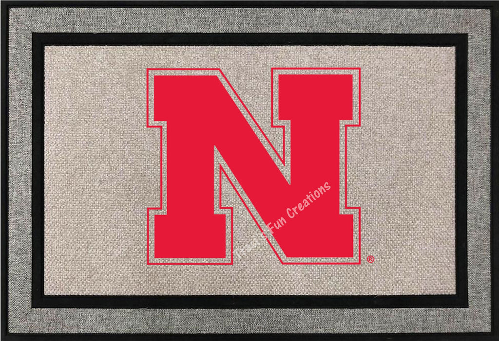 Nebraska N Door Mat