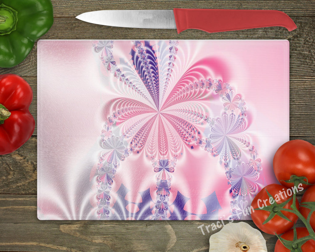 Spiral Flower Personalized Cutting Board