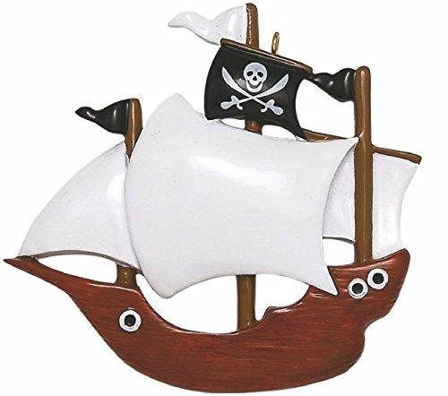 Pirate Ship Christmas Ornament