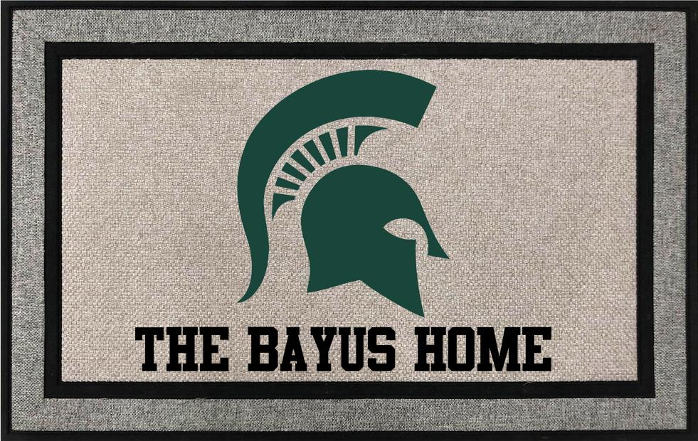Michigan States University Spartans Door Mat