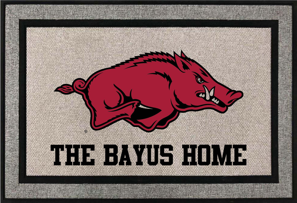 Arkansas Razorback Door Mat