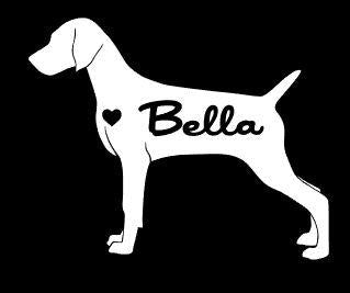 Weimaraner Car Decals