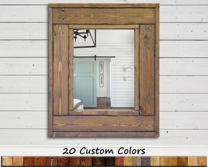 Herringbone Small Accent Mirror, 20 Stain Colors