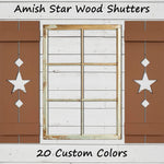 Amish Star Wooden Shutters - 20 Paint Colors - Renewed Decor & Storage
